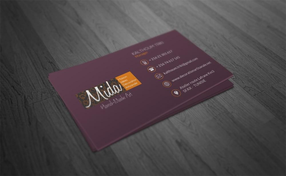 Carte visite Mida